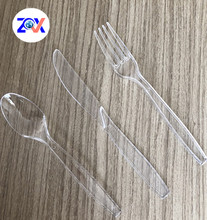 High Quality disposable transparent cutlery set plastic flatware