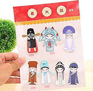 Paper Clips SET Of 7 Peking Opera Paper Bookmarks Cute Bookmarks korean stationery