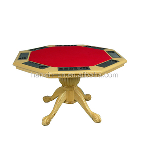 Wholesale Gambling 8 person octagon wood poker table dimension