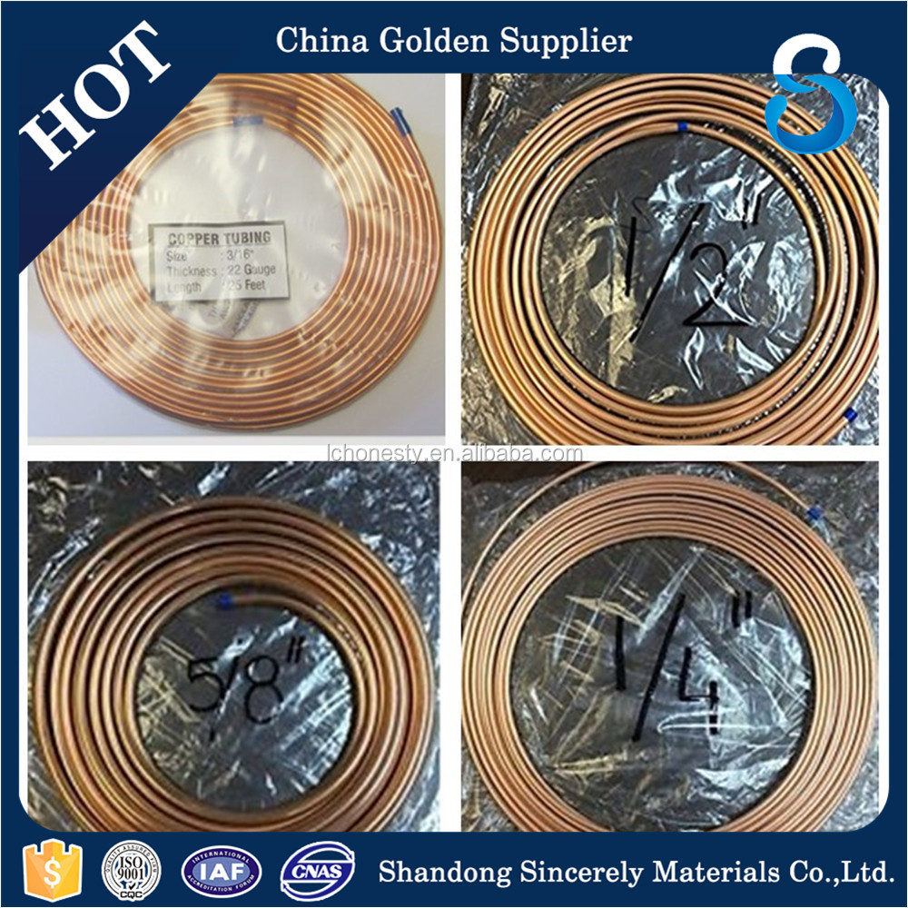 Factory supply 5/8 inch copper pipe tube for refrigeration use