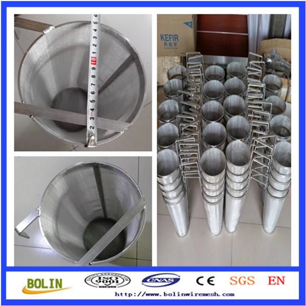 stainless steel wire mesh milk filter / fine mesh strainer (free sample)