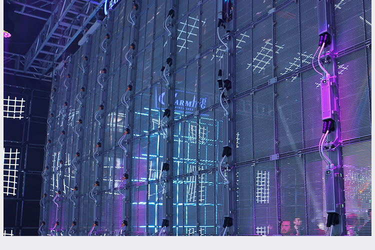 Dış mekan teli tam renkli kiralama LED video ekranı sabit şeffaf P3.91-7.8 cam LED ekran