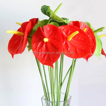 Artificial anthurium stems home decorative plastic flower stem with artificial anthurium stems home decorative plastic flower stem with cheap price for home table mightylinksfo