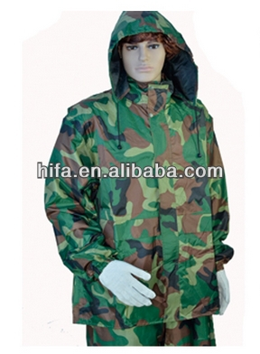 army green military rain suits