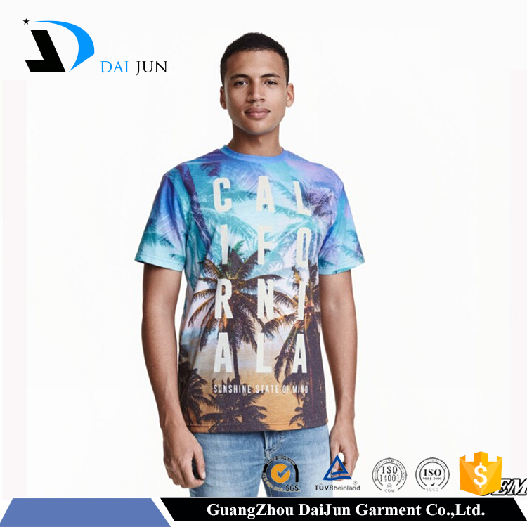 Daijun short sleeve best quality 100 polyester softextile sublimation t shirt