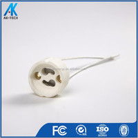 ceramic lamp holder gu10 , porcelain halogen lamp base gz10