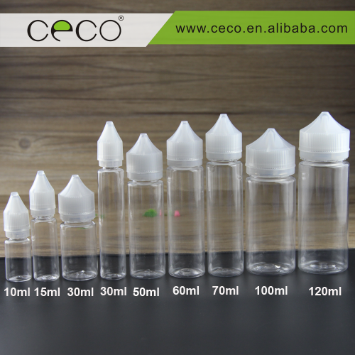 wholesales e l iquid pet 60ml clear unicorn plastic dropper bottle in stock