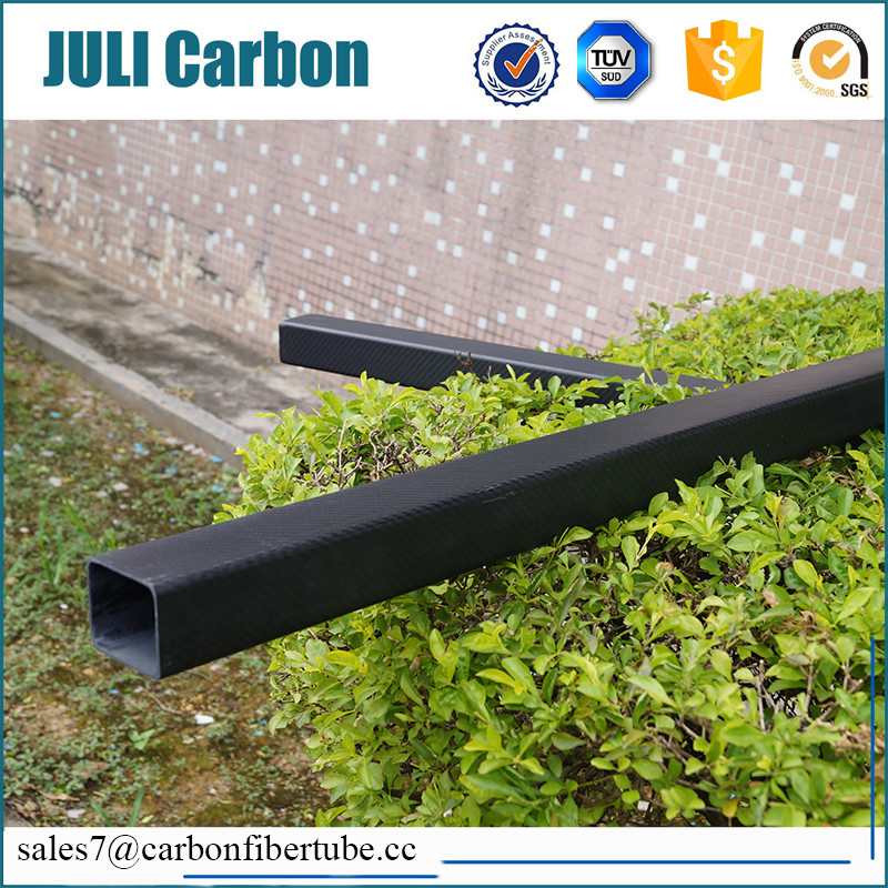 High strength 1.8 meters length matte 3k carbon fiber squqre tube