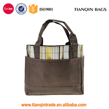 Promotional Picnic BBQ Food Multiuse Lunch Box Multiple Pouch Outdoor Brown Tote Handbag