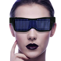 Customizable Blue tooth LED Glasses USB Charging Flashing LED Display Shutter Eyeglasses For Gift Event Party Supplies