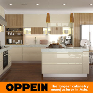Modular Water Proof Fiber Plastic Kitchen Cabinets With Countertop