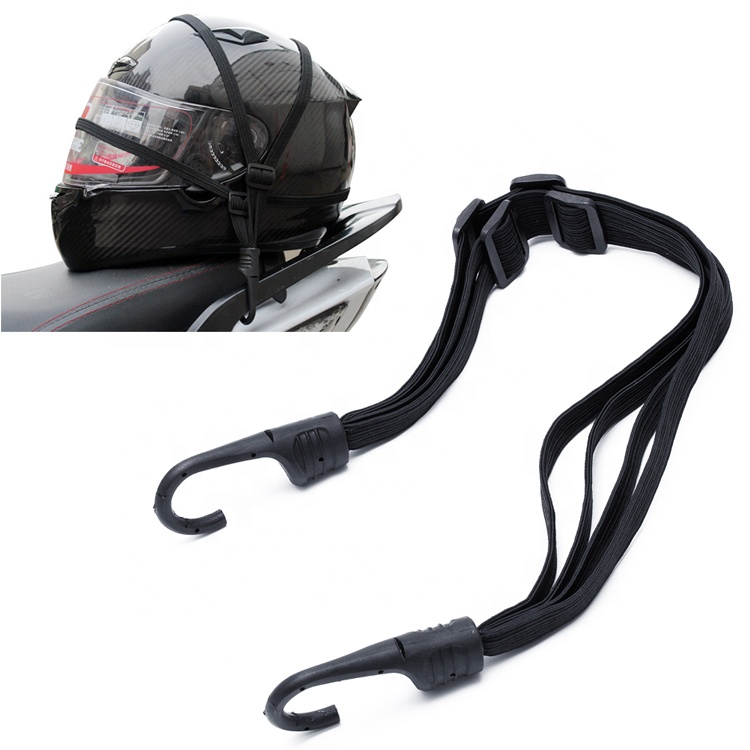 2 Hooks Motorcycles Moto Strength Retractable Helmet Luggage <strong>Elastic</strong> <strong>Rope</strong>