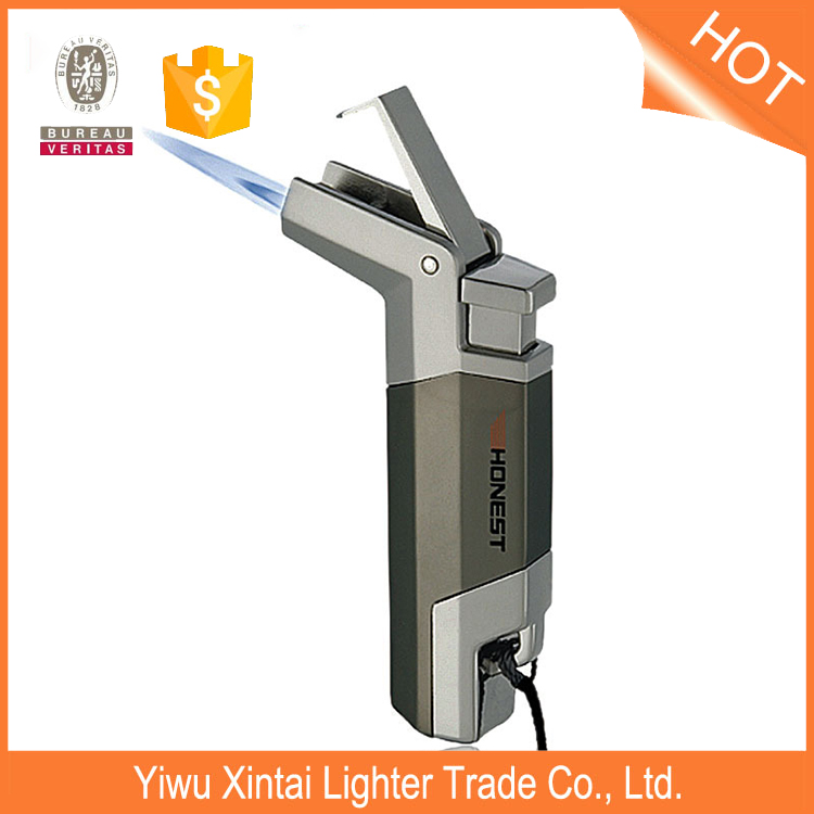 BCZ230-1 wholesale portable functional butane cigar using windproof gas lighter