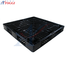 1200x1000x150mm factory workshop blue and black used plastic pallet for sale