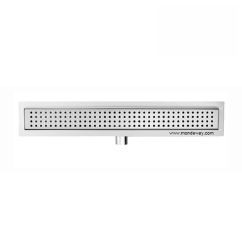 Multifunctional drain channel plastic Hot sale square brass linear drain chrome plated 100*100mm shower floor drain