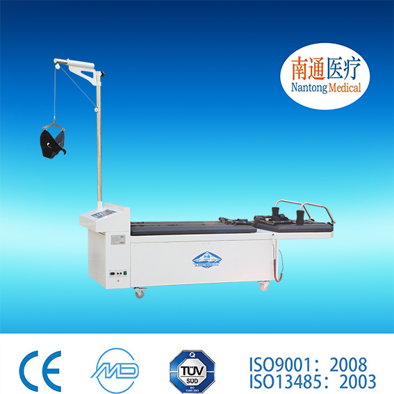 Top 3 factory! Nantong Medical cheap micro computer control Cervical&Lumbar traction bed with Long Service Life
