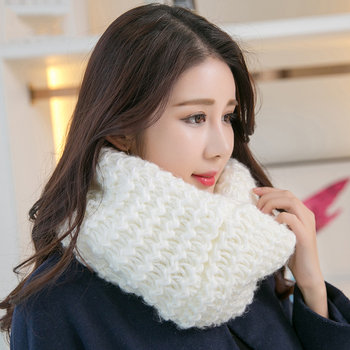2016 winter wholesale 100%acrylic scarves knitted woolen women loop scarf infinity scarves