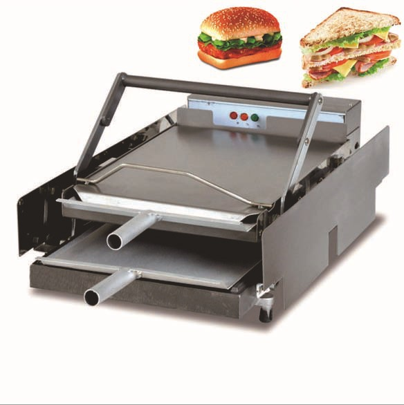 Double Layer Electric Hamburger Machine Burger Maker: 220 V Eléctrico Comercial De Doble Capa Hamburguesa