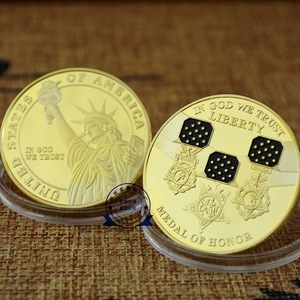 custom gold metal souvenir US liberty Medal of honor coin