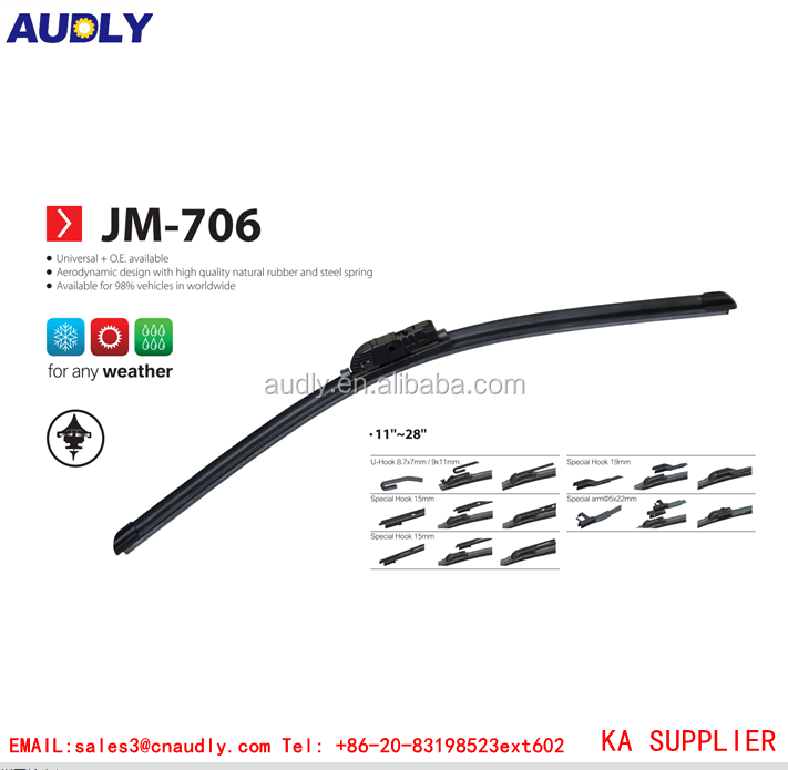 5 in 1 multi-functions New design windscreen universal heated wiper blade