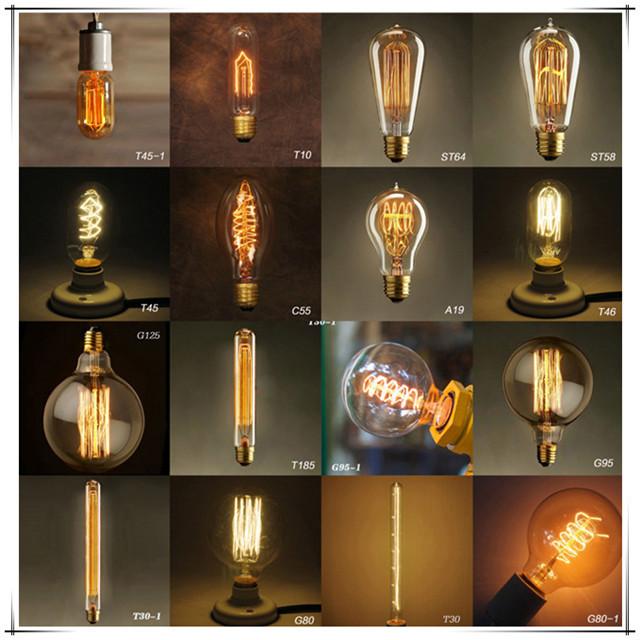 industrial vintage edison light bulb c32 40w e12e14 base led edison bulb retro antique
