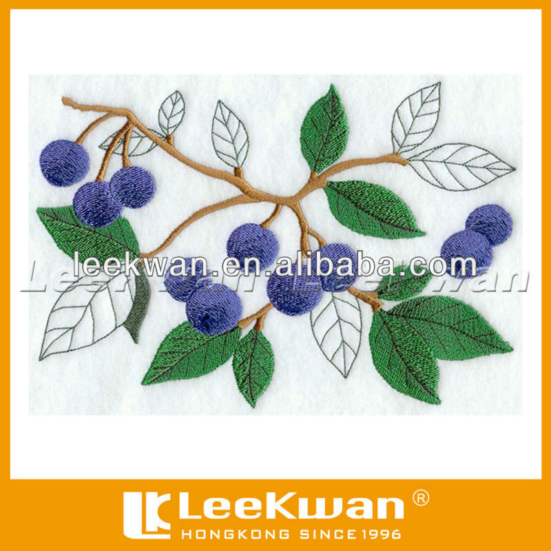 Flower pattern design embroidery applique