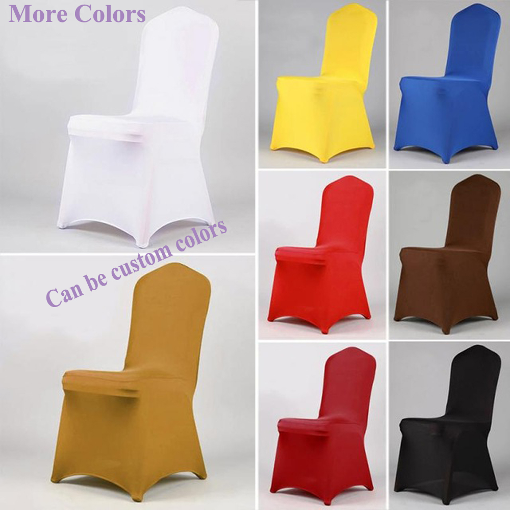 YT01243 Wholesale white wedding cheap spandex chair cover