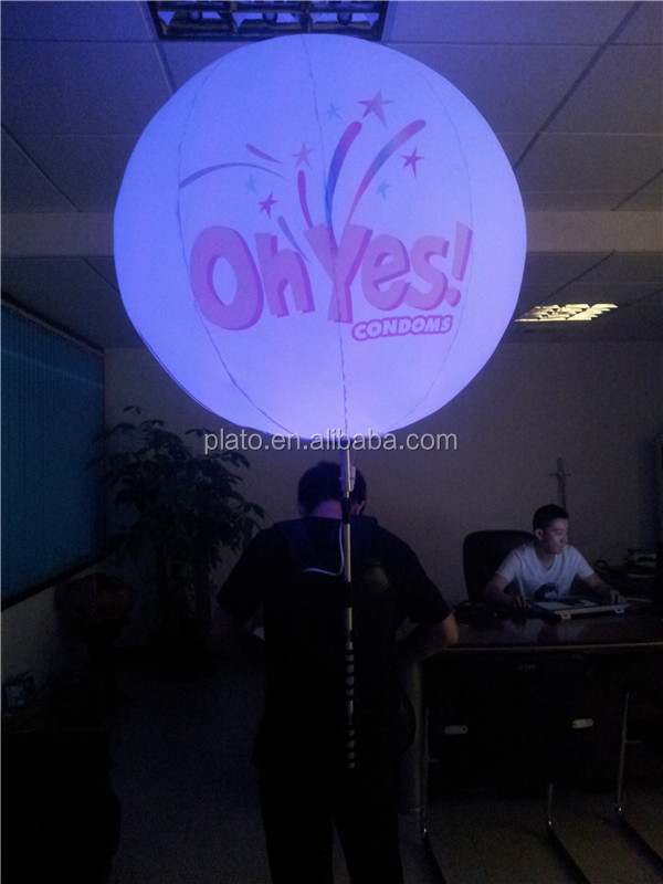 Popular giant Inflatable Backpack Ball with LED lights/inflatable Balloon for advertising