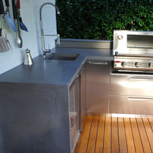 Bbq grill a gas all'aperto cucina