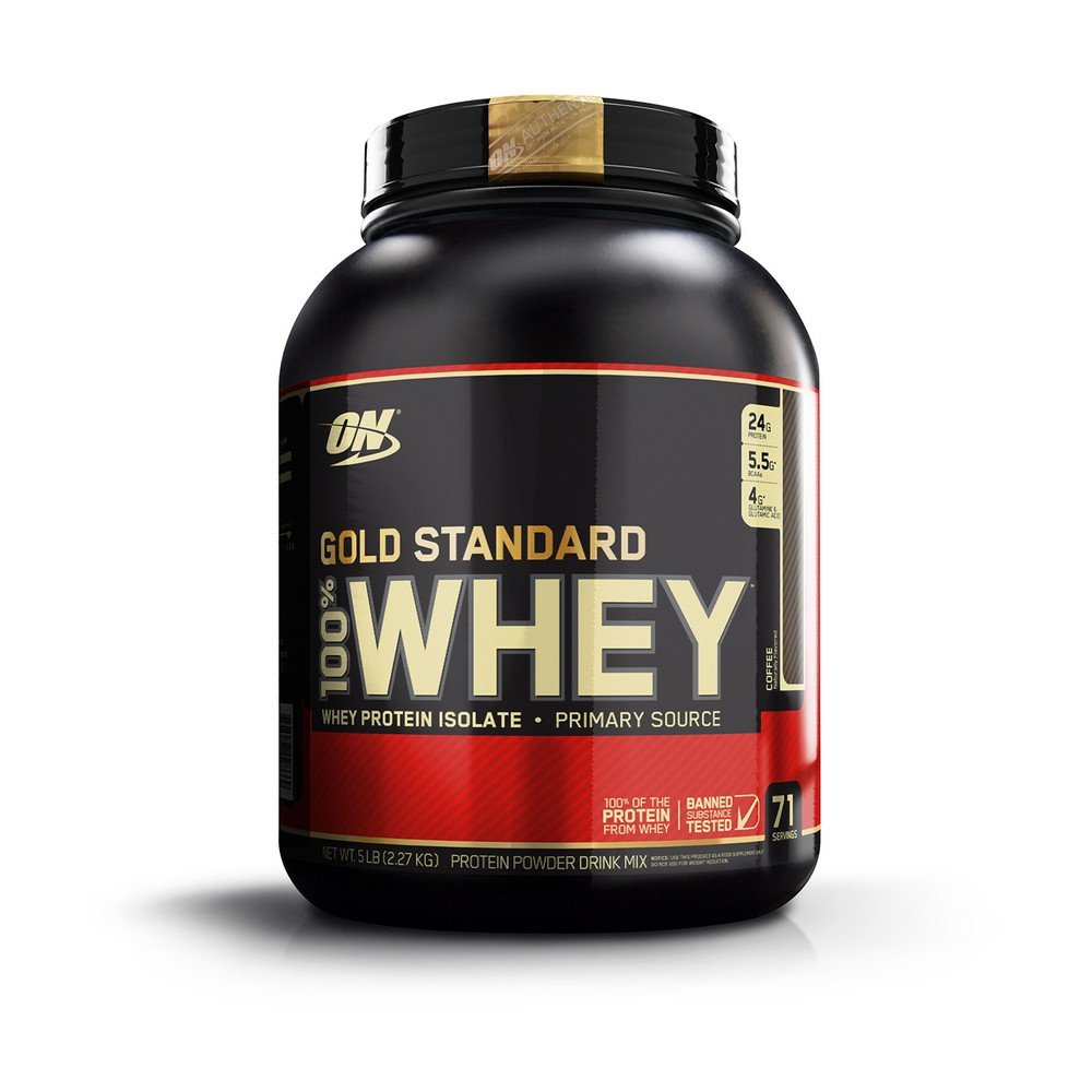 Optimum Nutrition Gold Standard 100% Whey Protein Powder, Coffee, 5 Pound