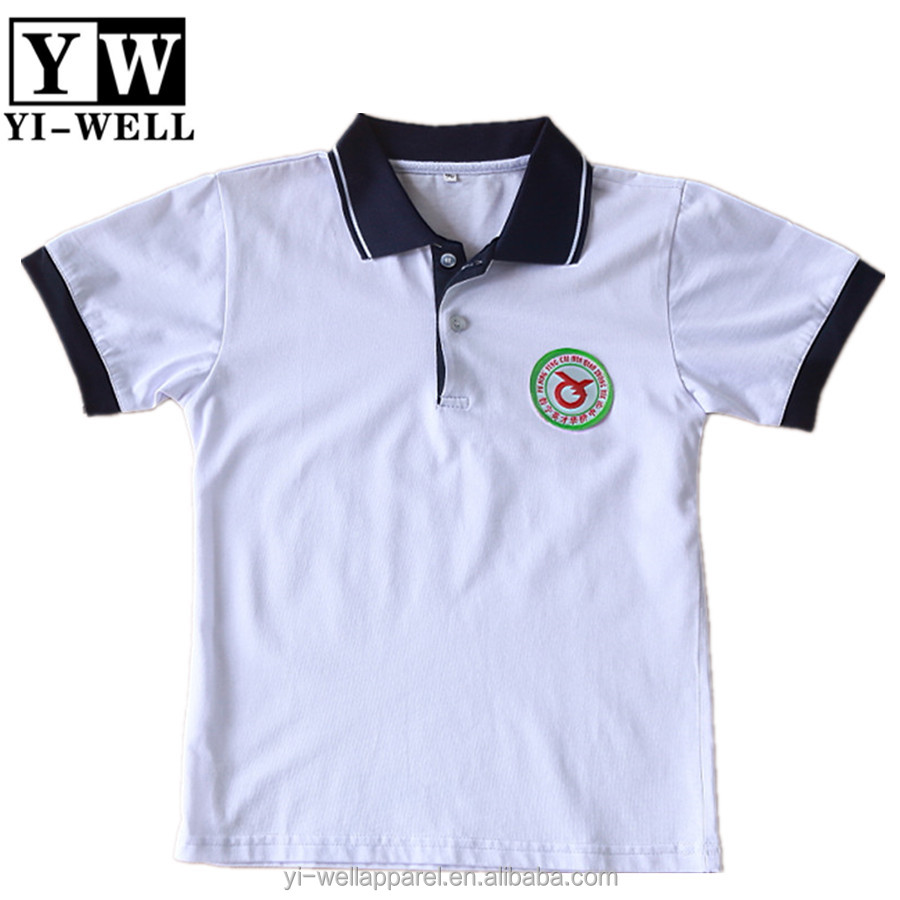 Uniform Contrast Color Polo Neck Shirt With Custom Logo Fast Dry