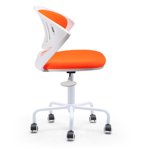 New design swivel white plastic office chair no arms