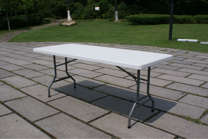 household multi game table, outdoor leisure table,72x30inch plastic folding dining table