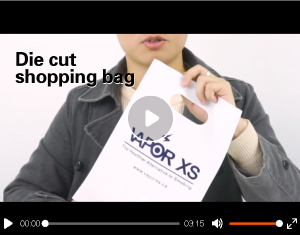 Custom cheap recycled printed plastic carrier bags for cake boxes