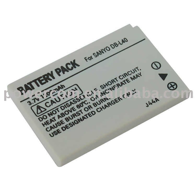 3.7v 1200mAh Digital camera battery DB-L40 For Sanyo Xacti HD1 / HD1A / HD2 / HD700/ HD800