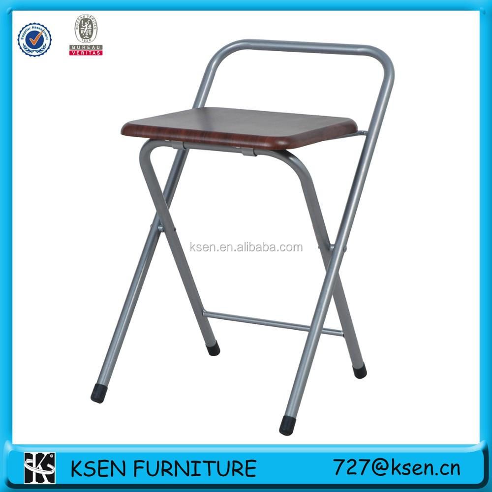 2016 new metal frame folding chair parts with wooden seat KC-7332