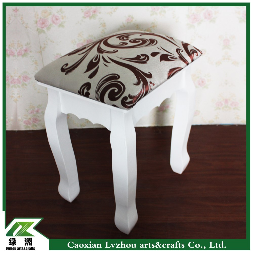 white desk wood makeup vanity table mirrored dressing table stool