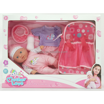 30cm Silicone Vinyl Material Baby Doll with Cotton Body Baby Doll Set