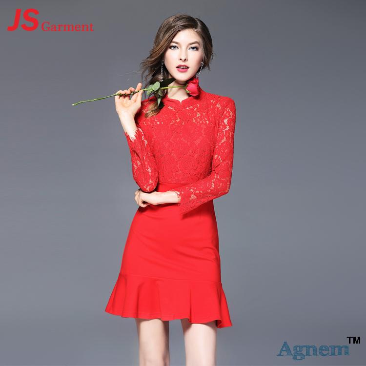 Vestidos rojos para delgadas