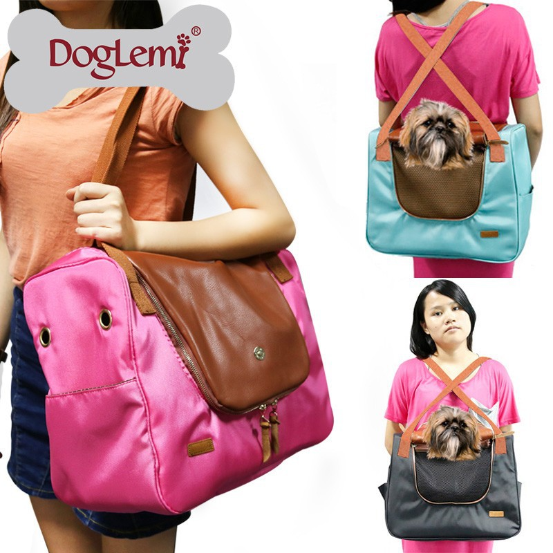 Trade Assurance Functional Fair Trade Canvas Travel <strong>Dog</strong> and Cat Pet Carrier Tote Hand Bag