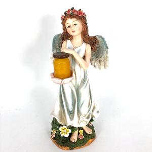 Unique Outdoor Solar Power Polyresin Crafts Angel solar garden light