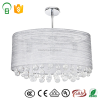 China supply indoor morden clean crystal led lamp with round shade