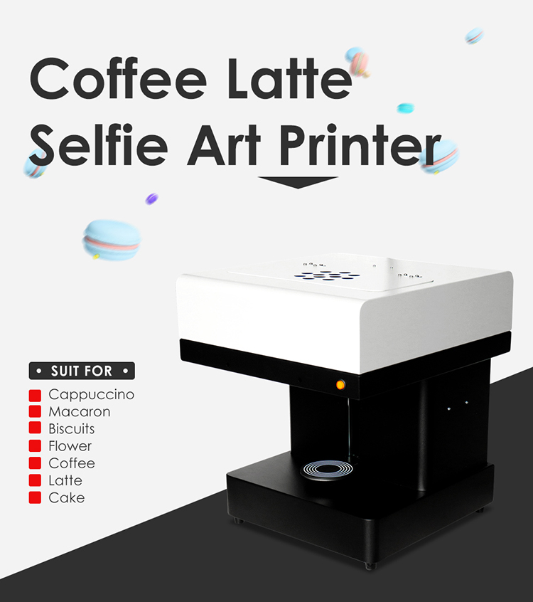 Jetvinne 3d Coffee coffee DIY and digital image you desire edible food printer with laptop
