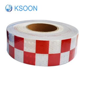 Red and white clear waterproof reflective tape