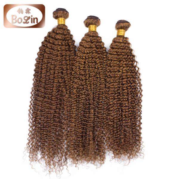 No Shedding No Tangle Brazilian Virgin Kinky Curly Hair Natural Brown 8A Grade Brazilian Human Hair Weave