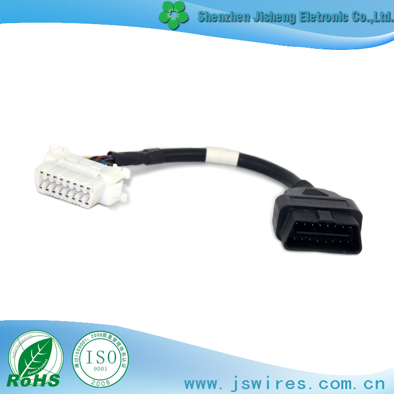 Best selling OBD 16pin Male to Female OBD M F Diagnostic Cable