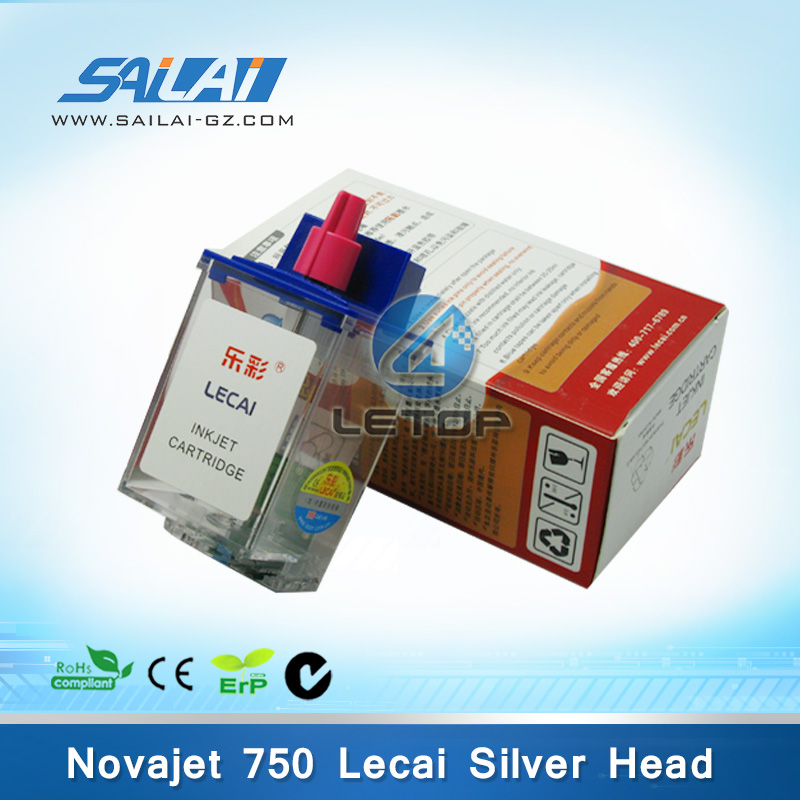 Hot sale!!!lecai 750 inkjet printer lecai Silver printhead ink cartridge
