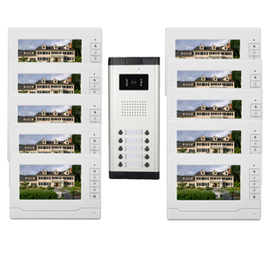 Apartment video door phone intercom system with doorbell kits to monitor ,dual-way intercom,unlock ,waterproof camera