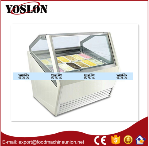 Yoslon ice cream showcase freezer 18pans from China Manufacture