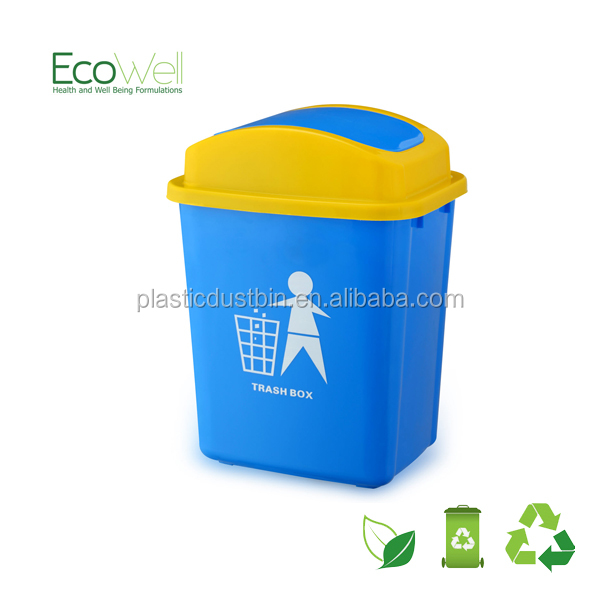 creative roll cover fashion plastic eco waste bin for kitchen made in China